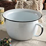 Stylish and cute kitchen accessories Nordic Country popularity of antique enamel Homestead chamber pot