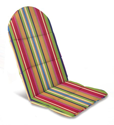 "49"" x 20-1/2"" Weather-Resistant Outdoor Classic Adirondack Cushion, in Fiesta Stripe"
