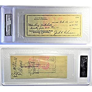 1958 $25 Jackie R. Robinson HOF Autographed Signed Personal Check Encased PSA/DNA Authentic