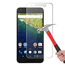 Nexus 6P Screen protector, Nexus 6P Tempered Glass Screen Protector Crystal Clear 2.5D Ultra Clear 9H Hardness Bubble Free Screen Protector for Huawei Google Nexus 6P 2015 (1 Pack)