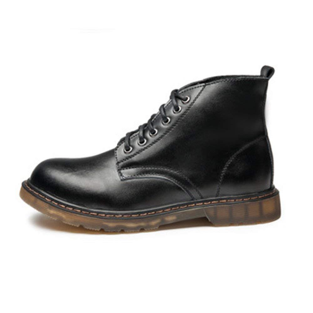Fuxitoggo Herrenschuhe Klassische Leder Schnürschuhe Oxfords High Top Stiefeletten für für für Herren (Farbe   Grau, Größe   39 EU) (Farbe   Schwarz, Größe   44 EU) 9ab887