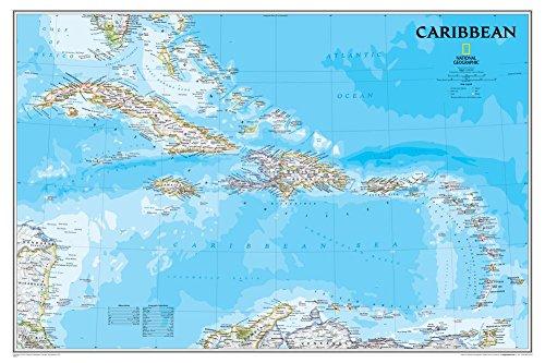 UPC 749717103146, Caribbean Classic Wall Map Material: Paper