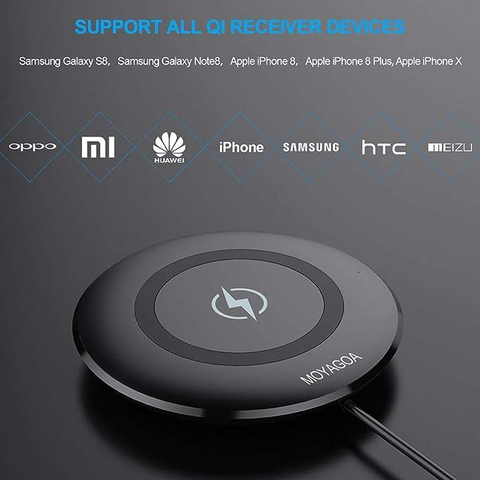 Amazon.com: Qi Cargador Inalambrico Para iPhone X 8 y ...