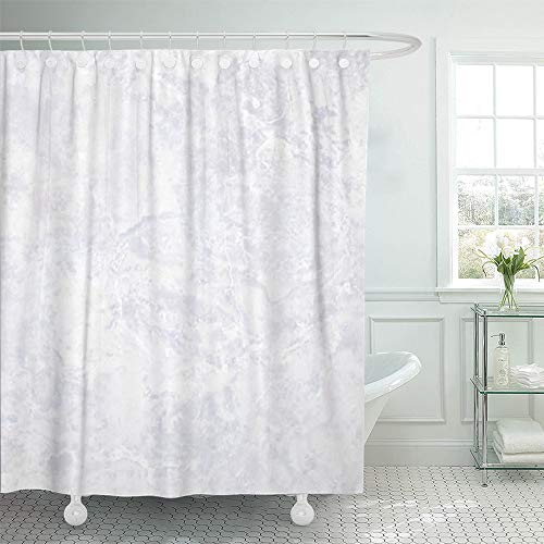 Cream Beige Marble - Emvency Shower Curtain Set Waterproof Adjustable Polyester Fabric Beige Wall Marble Brown Cream Grey Color 66 x 72 Inches Set with Hooks for Bathroom