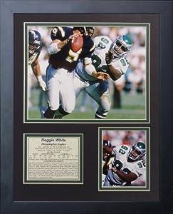 """Legends Never Die """"Reggie White Philadelphia Eagles"""" Framed Photo Collage, 11 x 14-Inch"""