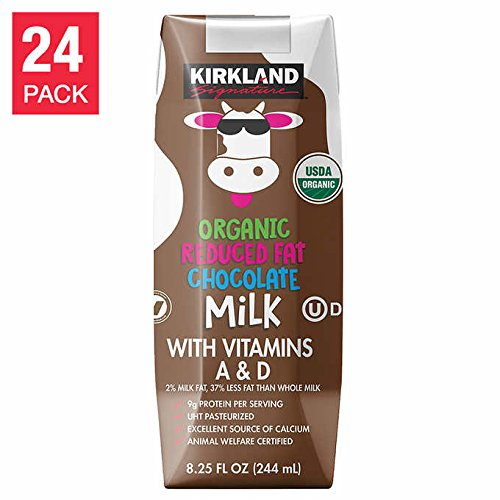 Kirkland Signature Expect More Chocolate Milk Cartons 8.25 fl. oz, 24-count by Evaxo (Image #2)