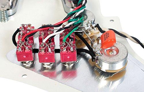 Burns London Mini Tri-Sonics Brian May Loaded Pickguard Chrome Parchment by Lace (Image #2)