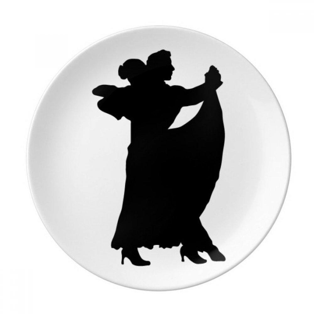 Dancer Duet Art Performance Duet Dance Dessert Plate Decorative Porcelain 8 inch Dinner Home