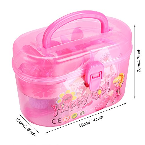 arshiner little girls fashion beauty makeup diy plastic play set toy with storage box us stock. Black Bedroom Furniture Sets. Home Design Ideas