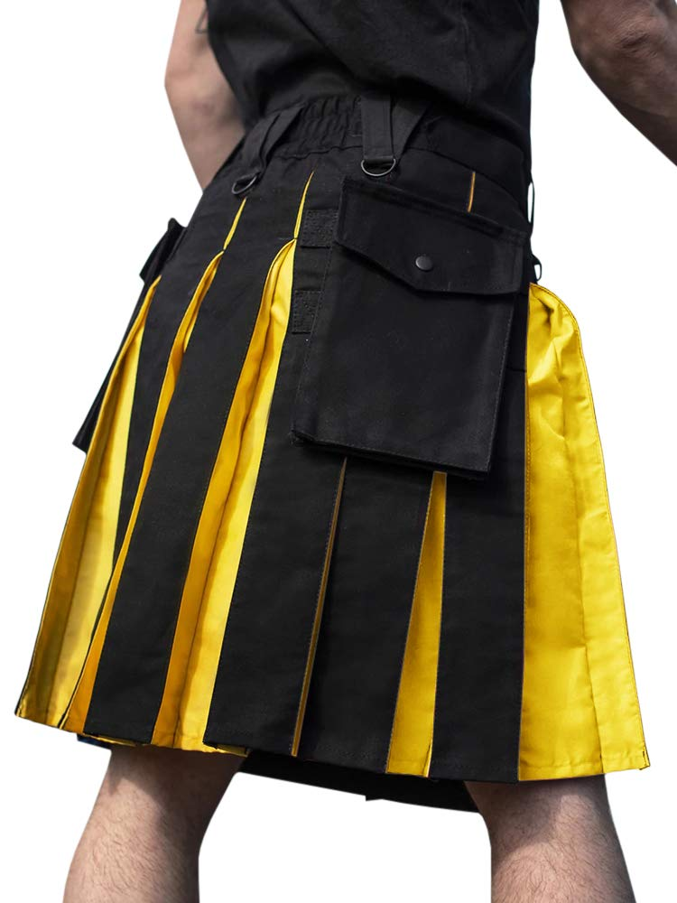 Mens Scottish Utility Kilts Highland Pleated Irish