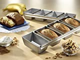 heavy bottomed pot - Kitchen 4 Mini Strap Heavy Gauge Commercial Steel Bake Loaf Pan with Scraper Combo