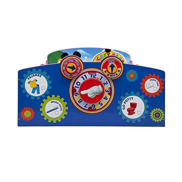 Delta Children Interactive Wood Toddler Bed, Disney Mickey Mouse  with Twinkle Stars Crib & Toddler Mattress 4