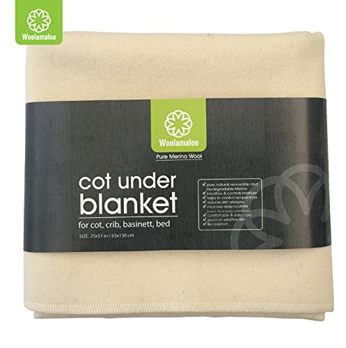 Natural Wool Crib Mattress Protector - Under Blanket - high