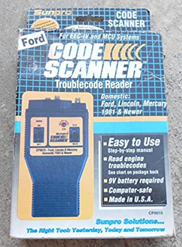sunpro actron ford code scanner owner manual cp9015 car computer rh amazon com Actron Vehicle Codes Actron Scanner Code Book
