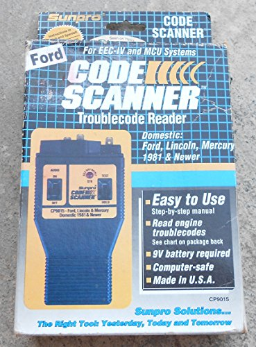 SUNPRO ACTRON FORD CODE SCANNER OWNER MANUAL (cp9015 car - Import It All