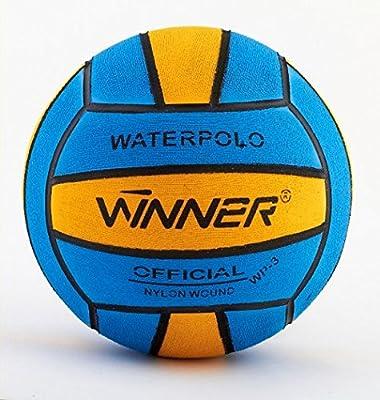 Ganador del balón de waterpolo. Tamaño 3, Mini Polo. Azul-amarillo ...