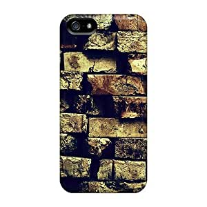 Hot Snap-on Cracked Brick Wall Hard Cover Case/ Protective Case For Iphone 5/5s