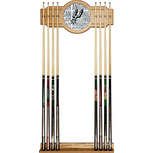 Trademark Gameroom NBA6000-SS3 NBA Cue Rack with Mirror - City - San Antonio Spurs by Trademark Global