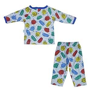 Disney Baby Infant Boys Printed Pajama Set, Blue/Grey