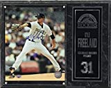 Kyle Freeland Signed 8x10 Photo with Deluxe Plaque (White Uniform)