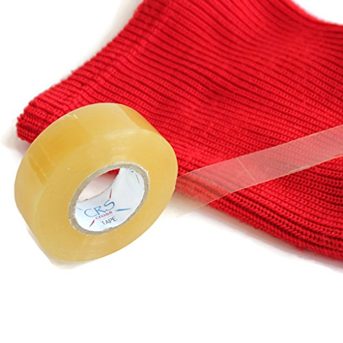 CRS Cross Tape 3 Pack, Clear Hockey Tape for Shin Guards & Pads (3 Pack) ice Hockey, Inline, Soccer.