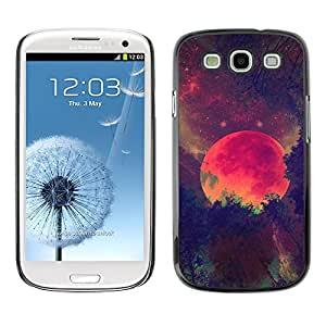 Paccase / SLIM PC / Aliminium Casa Carcasa Funda Case Cover para - Red Planer Universe Mars Galaxy Stars - Samsung Galaxy S3 I9300