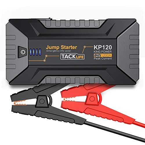 TACKLIFE 1200A Peak Car Jump Starter for up to 8L Gas and 6L Diesel Engines, 12V Car Battery Booster, Portable Power Pack with Quick Charge 3.0 and Type-C port
