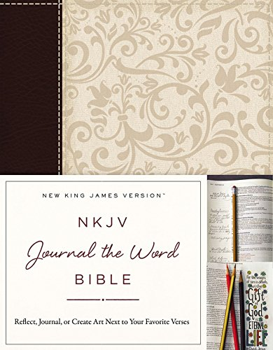 NKJV, Journal the Word Bible, Leathersoft, Brown/Cream, Red Letter Edition: Reflect, Journal, or Create Art Next to Your Favorite Verses