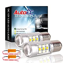 AutoEC 2x Super Bright White/Yellow Dual-Color 1157 2057 2357 7528 S25 33-SMD Switchback LED Bulbs For Turn Signal Lights 2-pack