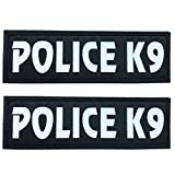 """SGODA Police K9 Patch for Pet Vest and Harness, Large, 6""""x2"""""""