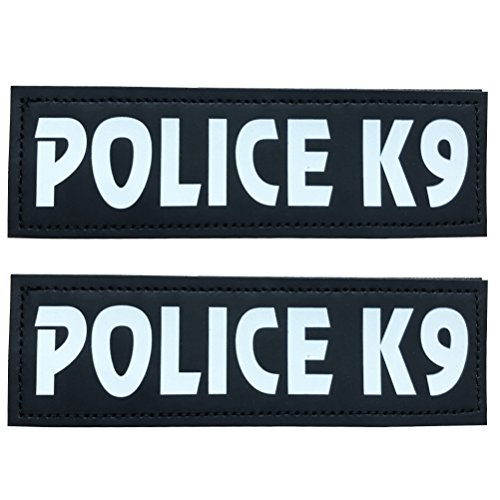 SGODA POLICE K9 Patch for Pet Vest and Harness, Large, 6