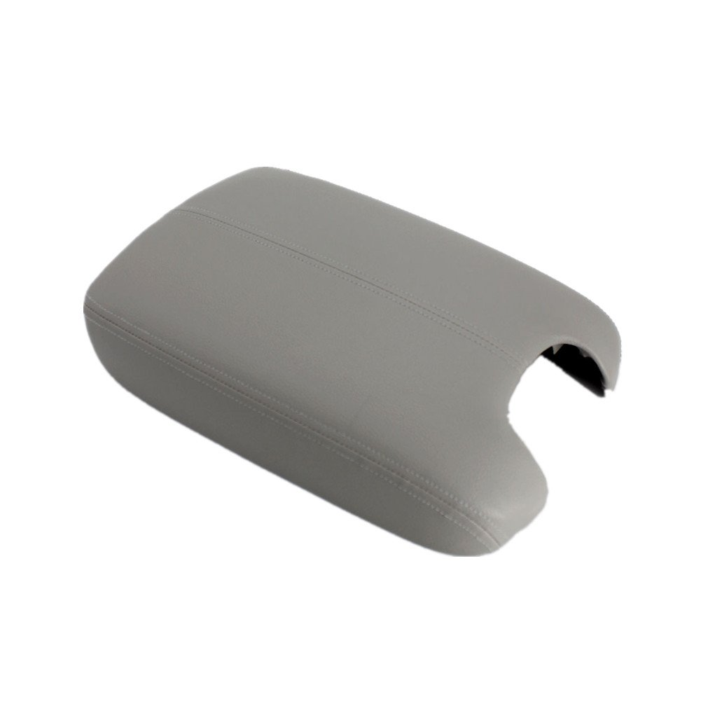 Ezzy Auto Gray Leather Suture Console Armrest Lid Cover for 2008 2009 2010 2011 2012 Honda Accord Center Console Cover Lid