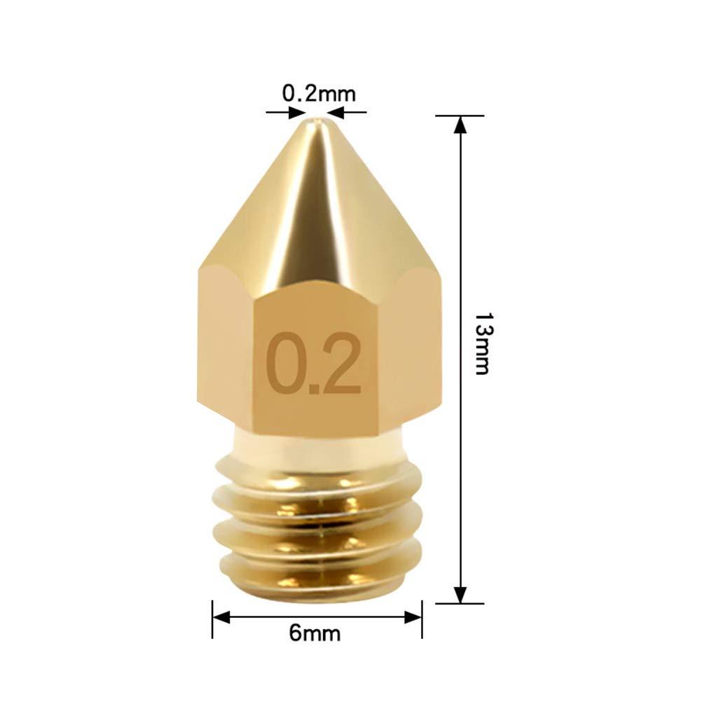 MK8 Extrudeuse de Buse Imprimante 3D 0.2//0.3//0.4//0.5//0.6//0.8//1.0mm Buse pour Imprimante 3D Hotend pour Filament 1.75mm YOTINO 25 Pi/èces Buse en Laiton