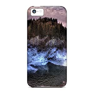 Awesome YLl42085peVe Defender Hard Cases Covers For Iphone 5c- Waterfal And Sun