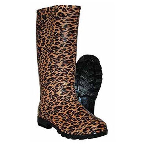 Womens Itasca Boots (Itasca Leopard Womens Waterproof PVC Rain Boots (9, Leopard))