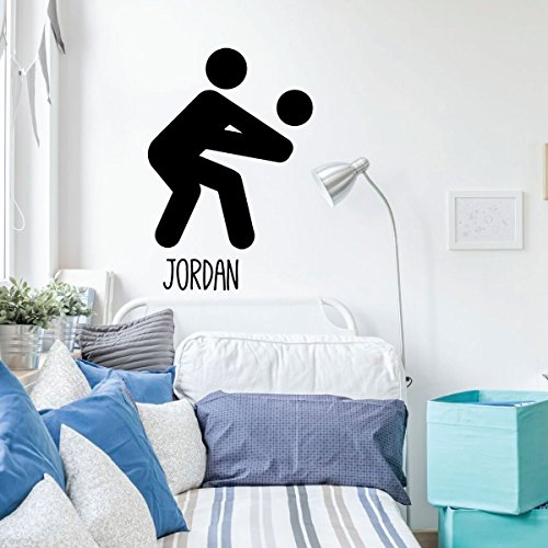 Volleyball Wall Decal Stick Figure - Personalized Vinyl Decor For Bedroom or Playroom - Sports Decorations