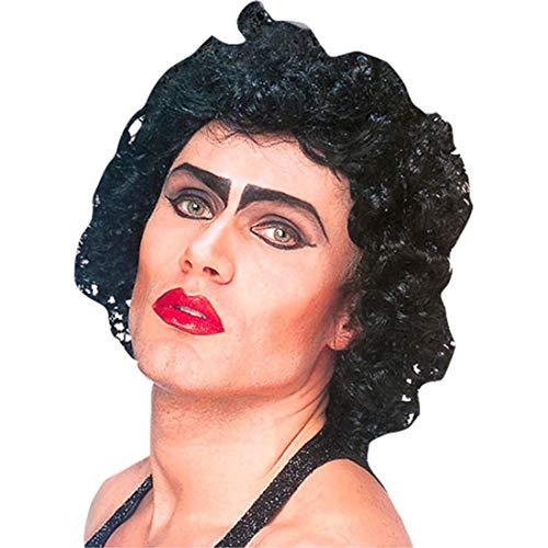 Official Frank N Furter Wig Mens The Rocky Horror Picture Show FrankNFurter Transvestite Fancy Dress Hair Adult Black Accessory by ROCKY HORROR