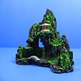 Fish Tank Decor Mountain View Aquarium Ornament tree - Rock Cave Bridge