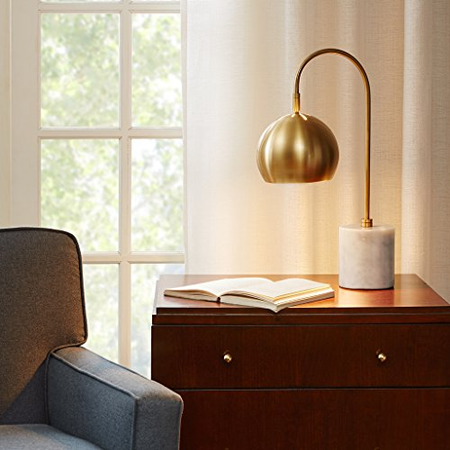 Madison Park MPS153-0014 Table Lamp, White/Gold