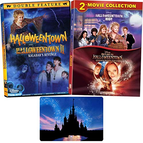 Halloween Town Movie Set (Halloweentown Complete 4 Movie Series Disney DVD Collection with Bonus Glossy Art Print (Halloweentown 1-2 High and Return)
