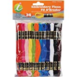 Iris Melrose Embroidery Floss-Pack 8 Meters 36-Pack-Primary Colors