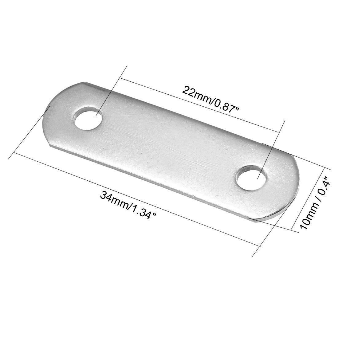 Patte dassemblage plaques Connecteur coin TV fixation plat 48mmx15mm 20pcs