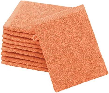 Zollner 10 manoplas de baño, algodón, 16x21 cm, naranja, otros colores: Amazon.es: Bebé