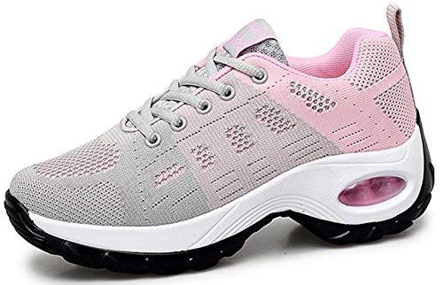 Damen Laufschuhe Sports Sneaker Turnschuhe Keilabsatzschuhe Plateau Freizeit