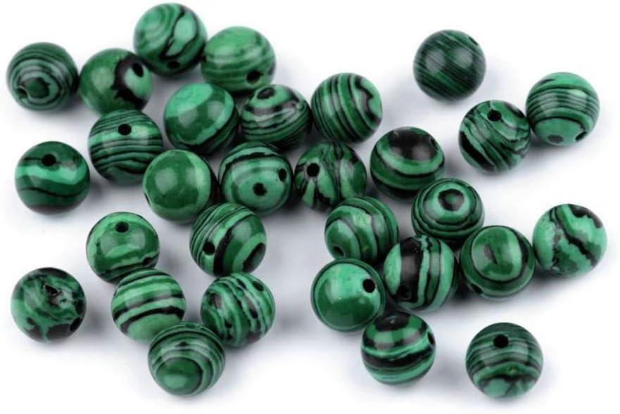 10pc Malaquita Mineral Natural/piedras preciosas Perlas de Malaquita Ø8mm, Perlas, Nácar, de Lava, Y Nacarados