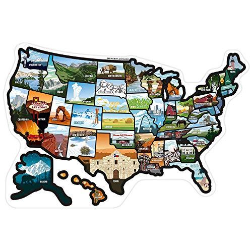 United States Travel Camper Map