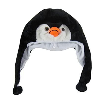 bece69ec3aa Amazon.com  Plush Animal Pom Pom Beanie - Penguin  Automotive