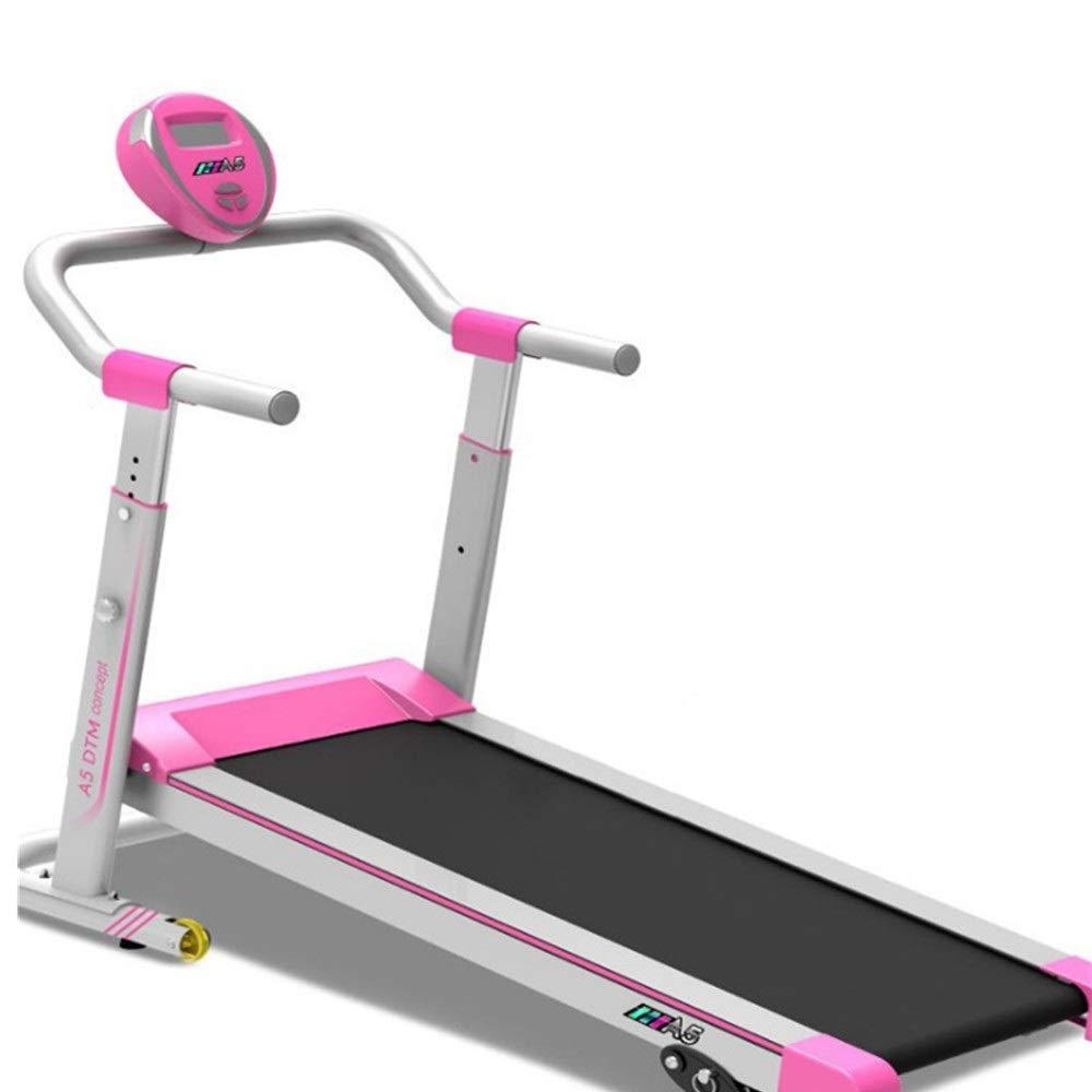 フィットネス機器ランニングスポーツフィットネスボディ用機械トレッドミルミュート折りたたみミニウォーキングマシン 折り畳み (色 : ピンク, サイズ : 130cmx65cmx122cm) ピンク 130cmx65cmx122cm