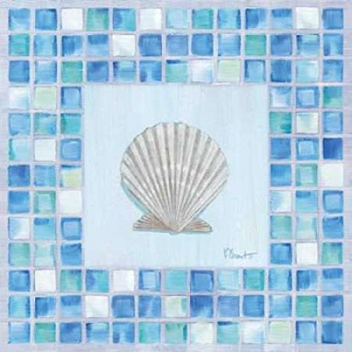 - Posterazzi Mosaic Scallop Poster Print by Paul Brent (12 x 12)