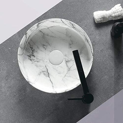 セラミック洗面器 小型上記カウンター盆地セラミック容器シンクの洗面化粧台洗面ボウル バスルームキャビネットシンク (色 : 緑, Size : 36x36x13cm)